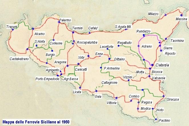 Cartina Ferroviaria Sicilia.Le Ferrovie In Sicilia